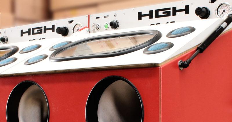sabbiatrice con sistema HGH