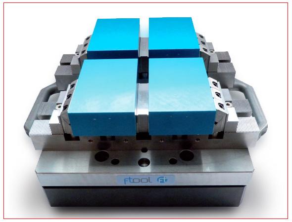 4 opzioni universali utilizzo sistema centraggio EDM fissaggi per EDM